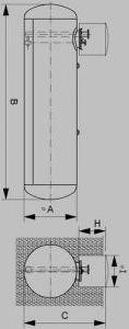 Емкости для СУГ. Подземная емкость 10 м3